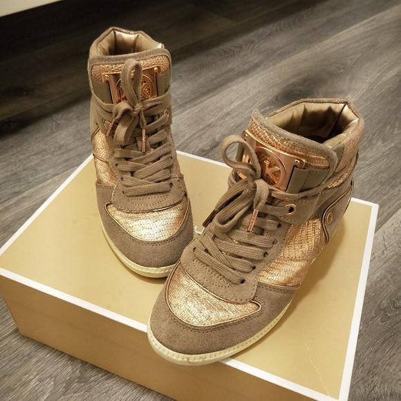 Michael Kors Shoes   Nikko Rose Gold High Top Sneaker 6m   Poshmark 3f7d4f73e38